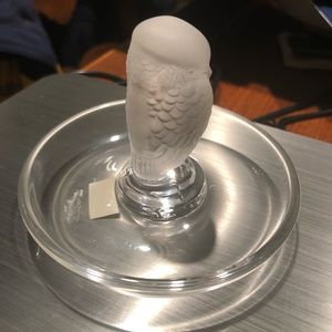 Lalique Owl Ring tray